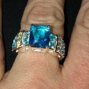 Blue Topaz Ring (7) .925